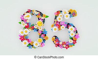 """цветочный, анимация, """"numerical, разряд, 85."""""""
