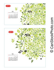 цветочный, май, календарь, 2014