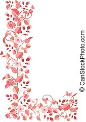 цветочный, романтический, письмо, l