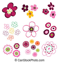 цветочный, цветок, elements
