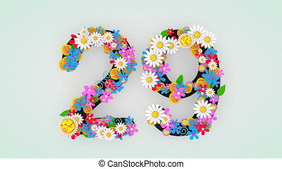 """цветочный, 29."""", анимация, """"numerical, разряд"""