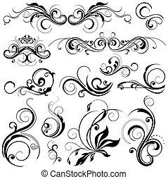 цветочный, elements, дизайн
