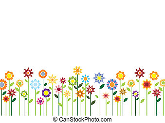 цветы, весна, вектор