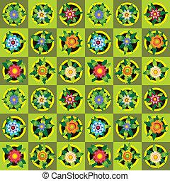 цветы, задний план