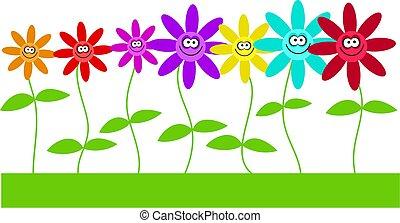 цветы, счастливый