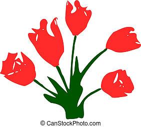 цветы, тюльпан