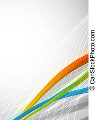 цвет, абстрактные, вектор, lines., задний план