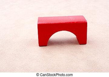 цвет, здание, красный, блок