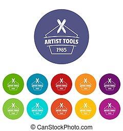 цвет, инструмент, designer, задавать, icons