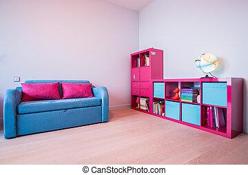 цвет, комната, дитя