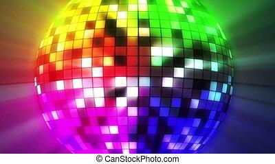 цвет, мяч, дискотека, 3d, оказывать