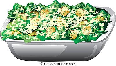 цезарь, салат