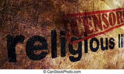 цензурой, религия, свобода