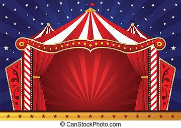 цирк, задний план