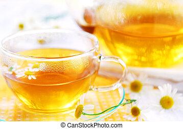 чай, ромашка