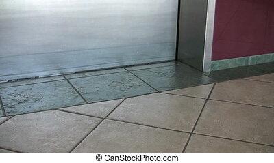 человек, вне, лифт, walks