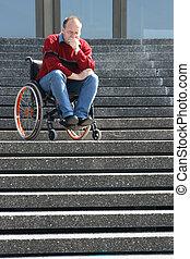 человек, в, , инвалидная коляска