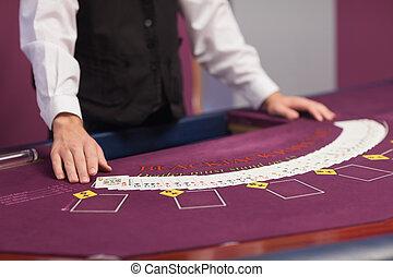 человек, дело, вне, cards, в, , казино