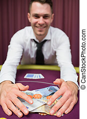 человек, захват, деньги, в, покер, таблица