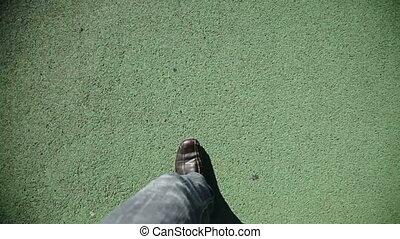 человек, зеленый, гулять пешком, текстура