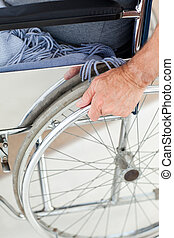 человек, инвалидная коляска, his