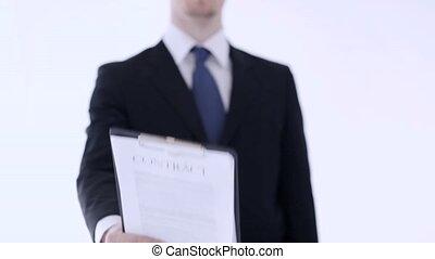 человек, показ, , контракт