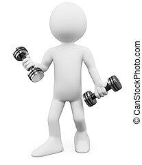 человек, -, 3d, фитнес