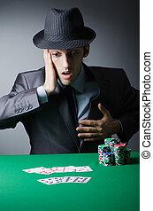 человек, playing, в, , казино