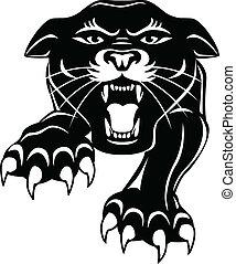 черный, пантера