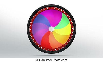 черный, состояние, колесо, of, 10, площадь, вертеть, 4k