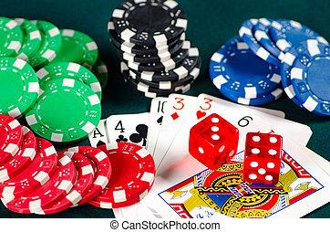 чипсы, and, cards, на, казино, таблица