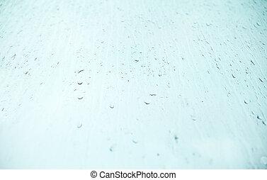 чисто, падение, дождь, background., окно, текстура