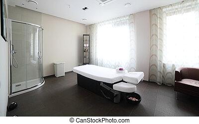 чистый, комната, массаж, европейская