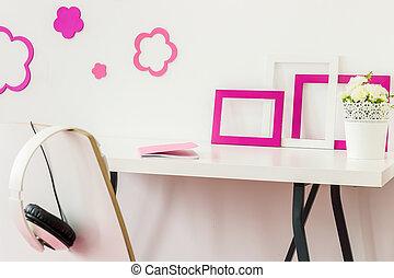 что ж, организованная, стол письменный