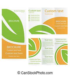 шаблон, брошюра, вектор, дизайн, макет