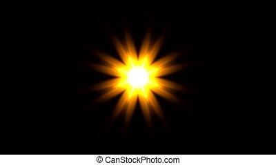 шаблон, золото, цветок, или, солнечный лучик
