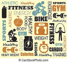 шаблон, фитнес