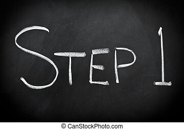 шаг, один
