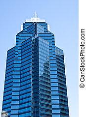 шайба, окно, башня, синий