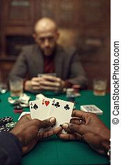шанс, мужской, покер, cards, games, руки