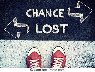 шанс, and, потерял