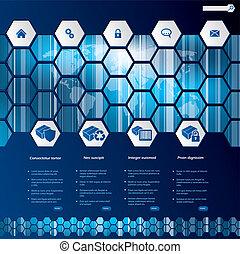 шестиугольник, стиль, web, шаблон, дизайн