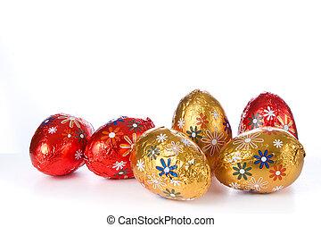 шоколад, пасха, eggs