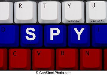 шпионаж, интернет, русский