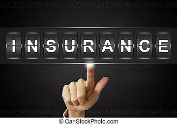щелкнув, flipboard, страхование, бизнес, рука
