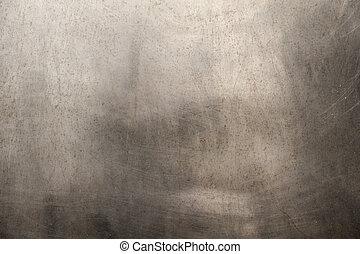щеткой, металл, текстура