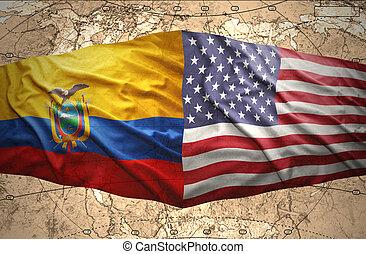 эквадор, and, единый, состояния, of, америка