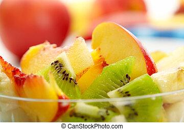 экзотический, фрукты, салат