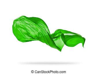 элегантный, гладкий; плавный, ткань, зеленый, задний план, ...