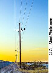 электрический, сухопутный, линия